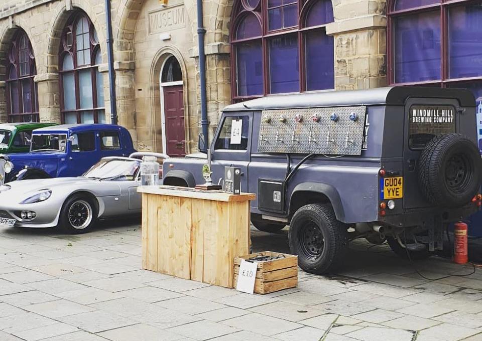 Windmill Hill tap room Defender, mobile brewery, award winning beers warwick